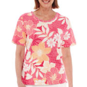 Alfred Dunner® Acapulco Short-Sleeve Floral Top