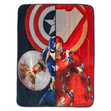 jcpenney.com | Marvel® Captain America Civil War Whose Side Fleece Throw