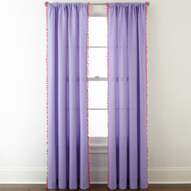 jcpenney.com | Home Expressions™ Pom Pom Rod-Pocket Curtain Panel
