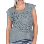 PL Movement by Pink Lotus Cap-Sleeve Whirl Top