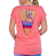 PL Movement by Pink Lotus Short-Sleeve Crossback Pullover Shirt