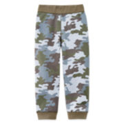 Okie Dokie® Knit Fleece Pants - Toddler Boys 2t-5t