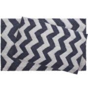 Jeane Pierre Zigzag Reversible Cotton 2-pc. Bath Mat Set