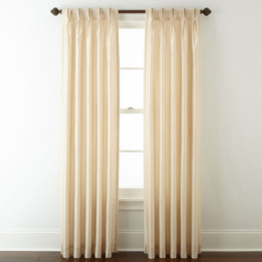 jcpenney.com | Royal Velvet® Encore Pinch-Pleat/Back-Tab Curtain Panel
