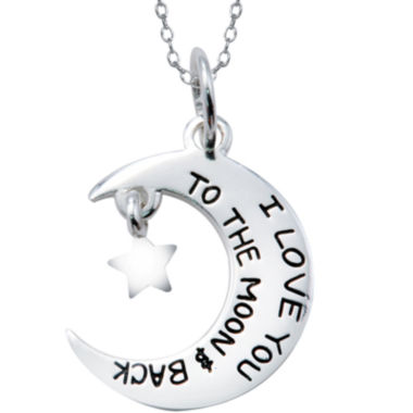 jcpenney.com | Footnotes® Sterling Silver Moon & Star Pendant Necklace