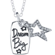 "Footnotes® Sterling Silver ""Dream Big"" Pendant Necklace"