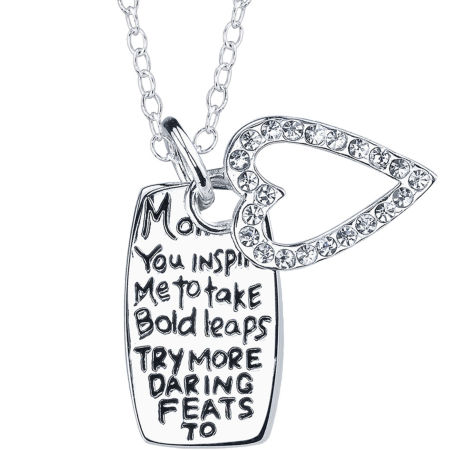 Mom Inspire Pendant Sterling Silver
