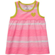 Carter's® Pink Striped Tank Top - Girls 6m-24m