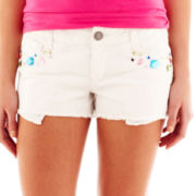Decree® Embellished-Pocket Cutoff Shorts