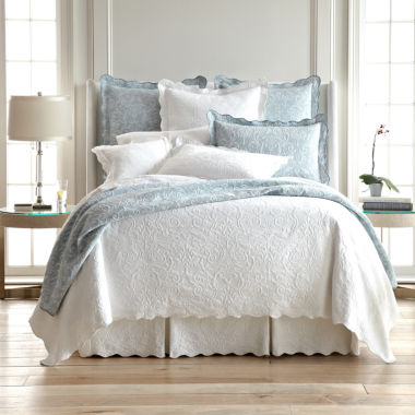 jcpenney.com | Royal Velvet® Coralie Damask Matelassé Coverlet & Accessories