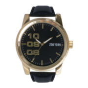 Zoo York® Mens Round Gold-Tone Case Watch