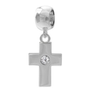 jcpenney.com | Forever Moments™ Crystal Cross Charm Bracelet Bead