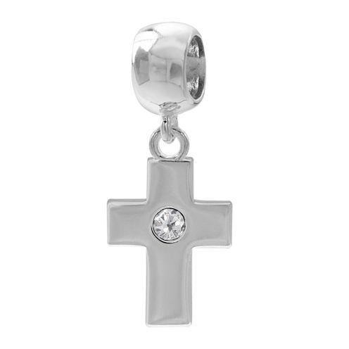 Forever Moments™ Crystal Cross Charm Bracelet Bead