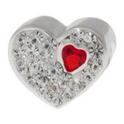 Forever Moments™ Crystal Heart Charm Bracelet Bead