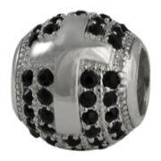 Forever Moments™ Black Crystal Cross Charm Bracelet Bead
