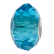 Forever Moments™ Aqua Faceted Glass Bead