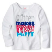 Okie Dokie® Graphic Long-Sleeve Tee - Girls 2y-6