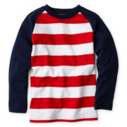 Okie Dokie® Long-Sleeve Striped Raglan Tee - Boys 2y-6
