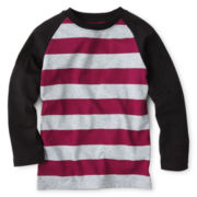 Okie Dokie® Long-Sleeve Striped Raglan Tee – Boys 12m-24m