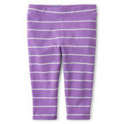 Joe Fresh™ Striped Capri Leggings - Girls 1t-5t
