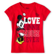 Disney Collection Love Minnie Graphic Tee - Girls 2-12