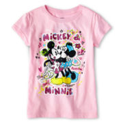 Disney Mickey and Minnie Graffiti Graphic Tee - Girls 2-12