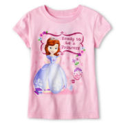"Disney Collection Sofia ""Ready to be a Princess"" Graphic Tee - Girls 2-10"