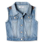Sally M™ Sally Miller Studded Denim Vest - Girls 6-16