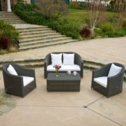 St. John's 4-pc. Outdoor Wicker Sofa Set