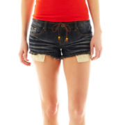 Hot Kiss Daisy Belted Shorts