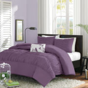 Ramona Ruched Duvet Cover Set