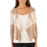 Worthington Flyaway Cardigan Sweater - Petite