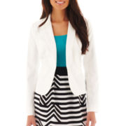 Worthington® 1-Button Sateen Jacket - Petite