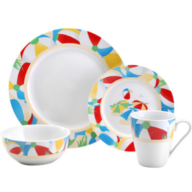 jcpenney.com | Pfaltzgraff® Beach Ball 16-pc. Dinnerware Set