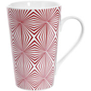 Red Vanilla Kaleidoscope Set of 4 Mugs