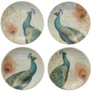 Majestic Beauty Set of 4 Appetizer Plates