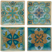 Majestic Beauty Set of 4 Square Coasters