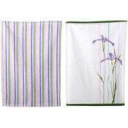 Corelle® Shadow Iris Set of 2 Dish Towels