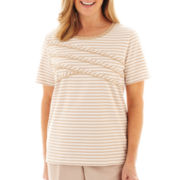Alfred Dunner® Tuscan Sunset Spliced Striped Knit Top