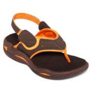 Okie Dokie® Frank Boys Strap Flip Flops - Toddler