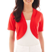 R&K Originals® Short-Sleeve Bolero Sweater