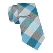 JF J. Ferrar® Heather Buffalo Slim Tie