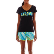 Xersion™ High-Low Graphic T-Shirt or Colorblock Running Shorts - Tall