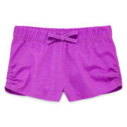 Okie Dokie® Gathered-Side Shorts – Toddler Girls 2t-5t