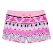 Okie Dokie® Printed Shorts – Preschool Girls 4-6x