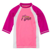 Nike® Colorblock Fitted Rash Guard – Girls 7-16