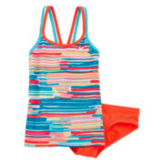 Nike® 2-pc. Frequency Tankini Set - Girls 7-16