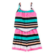 Total Girl® Stripe Romper - Girls 7-16