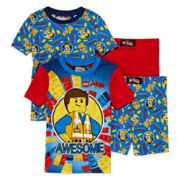 Lego Movie 4-pc. Cotton Pajama Set - Boys 4-10