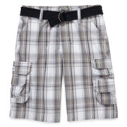 Lee® Wyoming Plaid Cargo Shorts - Boys 8-18 and Husky